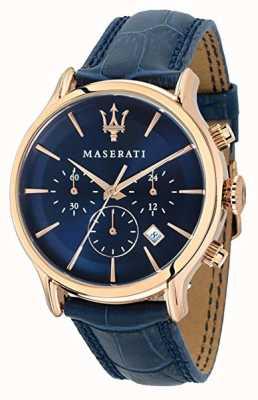 Maserati Мужская эпоса 42мм | синий циферблат | синий кожаный ремешок R8871618007