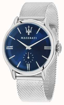 Maserati Мужская эпоса 42мм | синий циферблат | серебряный браслет из сетки R8853118006