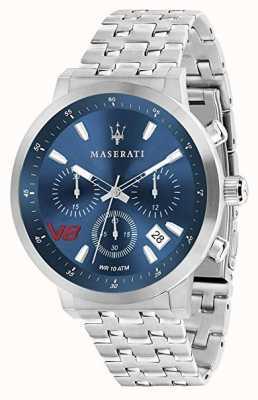 Maserati Mens gt 44mm | синий циферблат | серебряный браслет из нержавеющей стали R8873134002