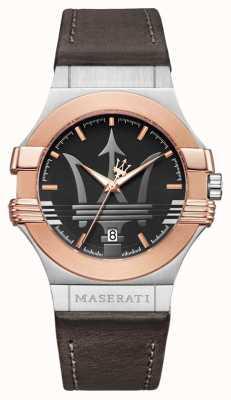 Maserati Мужчины potenza 42mm | позолоченная нержавеющая сталь | коричневый R8851108014