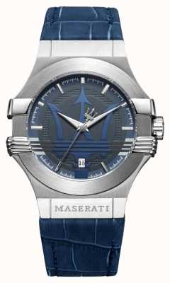 Maserati Мужчины potenza 42mm | нержавеющая сталь | синий циферблат | синий ремешок R8851108015