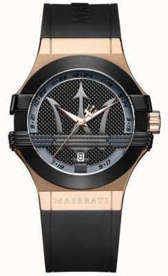 Maserati Анальный аналог | черный циферблат | черный кожаный ремешок R8851108002