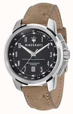 Maserati Мужские преемники 44мм | черный циферблат | ремень для загара R8851121004