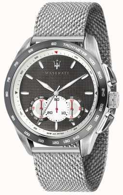 Maserati Мужские наручники 45мм | серый / черный циферблат | сетка из нержавеющей стали R8873612008