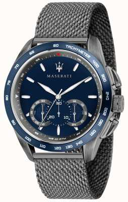 Maserati Мужская трагуардо 45мм | синий циферблат | серый сетчатый браслет R8873612009