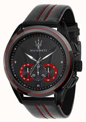 Maserati Мужские хронографы | черный циферблат | черная кожа R8871612023