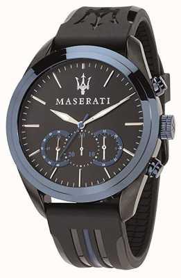 Maserati Мужские хронографы | синий циферблат | черный силикон R8871612006
