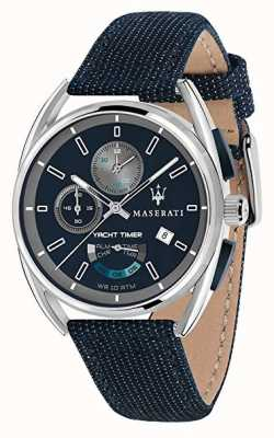 Maserati Таймер таймера Trimarano 41 | синий циферблат | синий тканевый ремень R8851132001