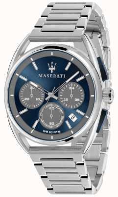 Maserati Мужские тримарано 41мм | синий циферблат | браслет из нержавеющей стали R8873632004