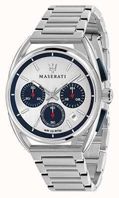 Maserati Мужские тримарано 41мм | серебристый / синий циферблат | нержавеющая сталь R8873632001