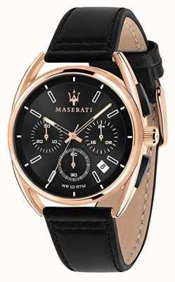 Maserati Мужские тримарано 41мм | розовое золото | черный циферблат | R8871632002