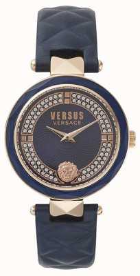 Versus Versace Женский Ковент Гарден | синий циферблат swarovski | синяя кожа VSPCD2817