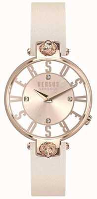 Versus Versace Женская одежда | розовый / белый циферблат | розовый кожаный ремешок VSP490318