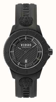 Versus Versace Токио | черный циферблат | черный силиконовый ремешок VSP0Y2318