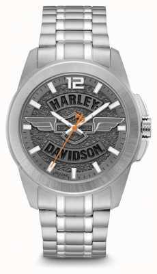 Harley Davidson Мужчины только время браслет из нержавеющей стали 76B180