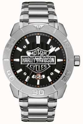 Harley Davidson Браслет из нержавеющей стали | черный набор 76B169