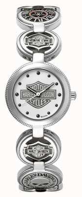 Harley Davidson Женские браслеты наручные часы браслет | серебряная нержавеющая сталь 76L145