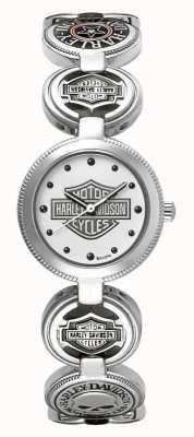 Harley Davidson Женские наручные часы с браслетом-подвеской | серебро нержавеющая сталь 76L145