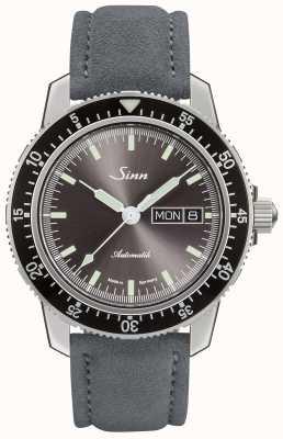 Sinn 104-й са я | замша серый кожаный ремешок 104.014 SUEDE GREY