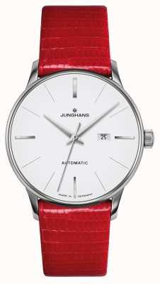 Junghans Meister Damen автоматический | красный ремешок из натуральной ящерицы 027/4844.00