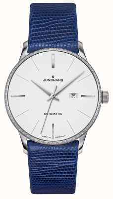 Junghans Meister Damen автоматический | алмазный набор | ремешок из синей ящерицы 027/4846.00