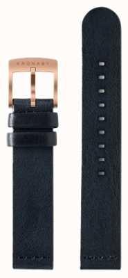 Kronaby Только 18мм темно-синий кожаный ремешок A1000-0576