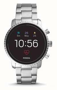 Fossil Подключено q Исследователь hr smart watch нержавеющая сталь FTW4011