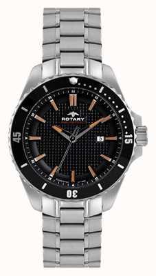 Rotary Мужской аналог | браслет из нержавеющей стали | черный набор AGB00293/04
