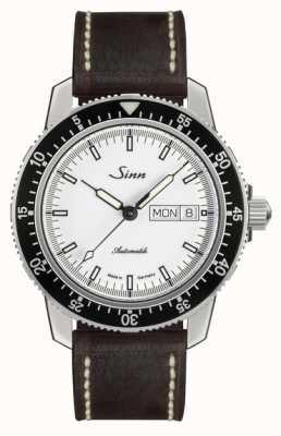 Sinn St sa iw классические пилотные часы светло-коричневого цвета из телячьей кожи винтаж 104.012 BROWN CALFSKIN LEATHER