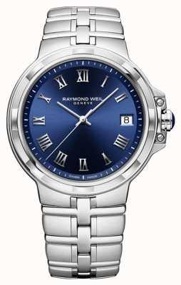 Raymond Weil Часы Parsifal с классическим синим циферблатом и браслетом 5580-ST-00508