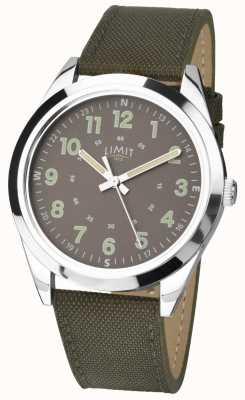 Limit Мужская уборная | часы в стиле милитари | хаки зеленый ремешок и зеленый циферблат 5951