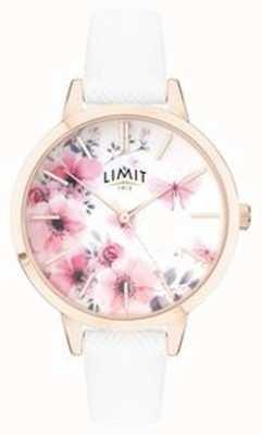 Limit | женские тайные садовые часы | розовый и белый цветочный циферблат | 60021