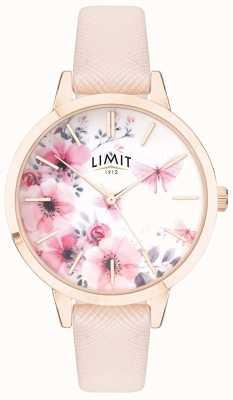 Limit | женский секретный сад | розовый и белый цветочный циферблат | розовая полоска 60023
