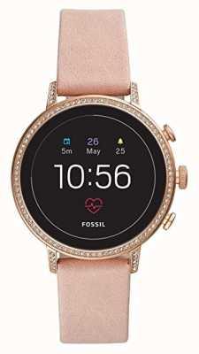 Fossil Подключенный q предприятие hr smart watch румянец кожаный камень набор FTW6015