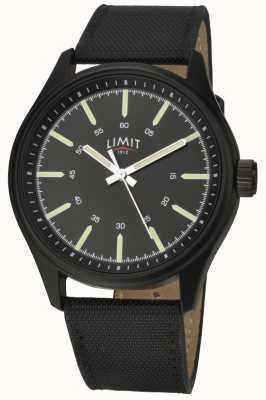 Limit | мужские | черный кожаный ремешок | черный циферблат | 5948.01
