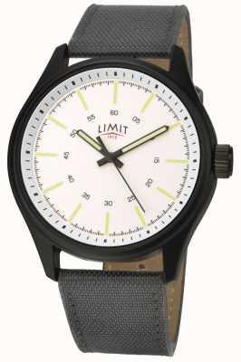 Limit | мужские | черный кожаный ремешок | белый циферблат | 5949.01