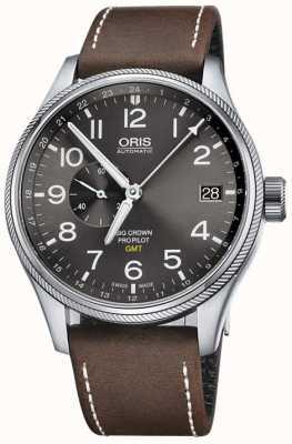 ORIS Мужские часы big crown propilot gmt small seconds 45 мм 01 748 7710 4063-07 5 22 05FC