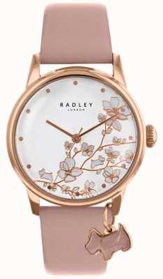 Radley Женские | висячий цветок | розовый кожаный ремешок RY2692