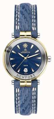 Michel Herbelin Женский Ньюпорт синий ремешок позолоченный 14255/T35