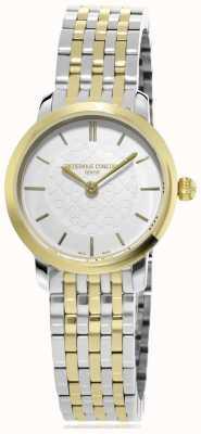 Frederique Constant | женская | двухцветная тонкая линия | металлические часы | FC-200WHS3B