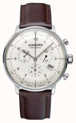 Junkers Мужской Баухауз хронограф коричневый кожаный ремешок 6086-5
