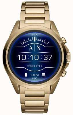 Armani Exchange Подключен SmartWatch с сенсорным экраном позолоченный ПВХ AXT2001