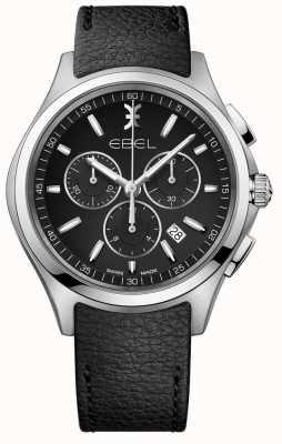 EBEL | мужские часы с хронографом | черный кожаный ремешок | 1216343