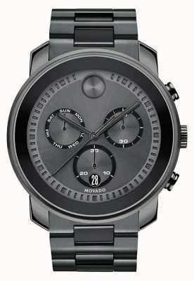 Movado | мужские смелые часы с хронографом | бронзовая серая сталь | 3600486