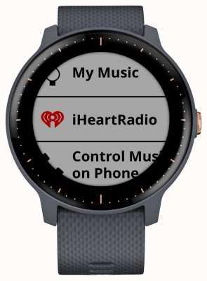Garmin Vivoactive 3 music hr gps гранит синий розовое золото умные часы 010-01985-32