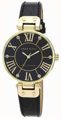 Anne Klein | женские фирменные часы | черный и золотой | AK-N1396BMBK