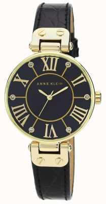 Anne Klein | женские фирменные часы | черный и золотой | AK/N1396BMBK