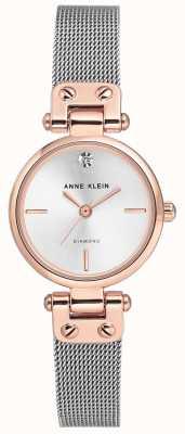 Anne Klein | женские кабельные часы | серебряный тон | AK-N3003SVRT
