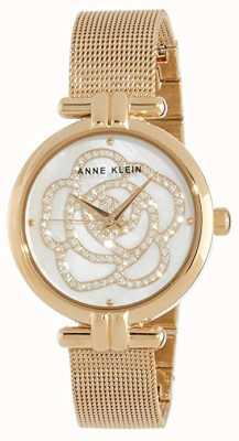 Anne Klein | женские цветочные часы | золотой тон | AK-N3102MPGB