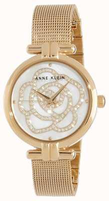 Anne Klein | женские цветочные часы | золотой тон | AK/N3102MPGB